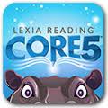Lexia Reading Core 5 icon with cartoon animal eyes